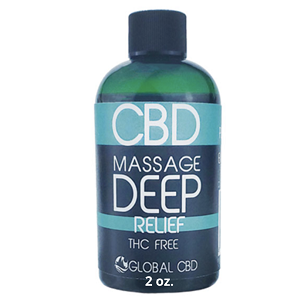 Deep Relief CBD Massage Oil - 2 OZ 100 MG CBD