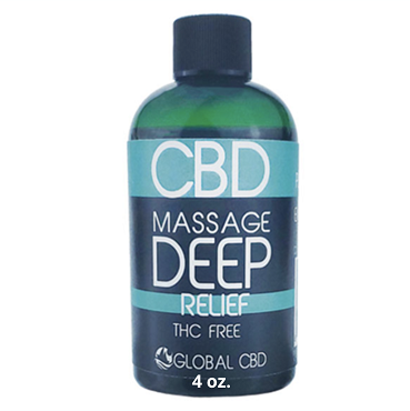 Deep Relief CBD Massage Oil - 4 oz 200 MG CBD