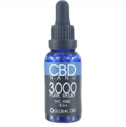 Nano Pure Relief Ultra 3000 Hemp CBD Tincture 300mg THC Free With Free Shipping On All Retail Purchases